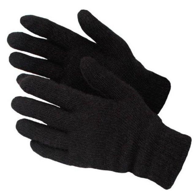 Перчатки п/шерстяные 2 слоя черные