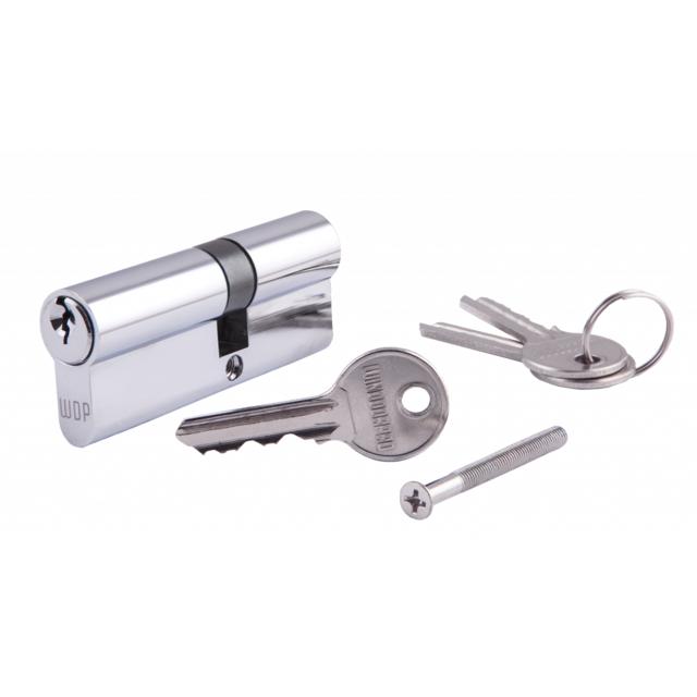 Цилиндр WINDOORPRO 85мм (40*45) ключ/ключ, 3 кл анг. (хром)